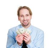 Happy to have money — Stock Photo