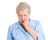 Worried woman — Stock Photo