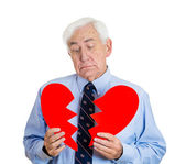 Heart broken old man — Stock Photo