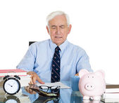 Old manager — Stock Photo