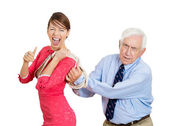 Whipped older man — Stock Photo