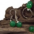 Stock Photo: Green jewel set