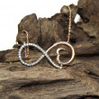 Stock Photo: Infinity necklace