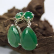 Stock Photo: Green Earring