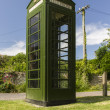 Green Telephone Box UK — Stock Photo