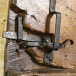 Stock Photo: Very old door latch