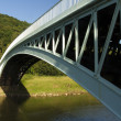 Bigsweir Bridge, a single span iron bridge over the River Wye an — Foto de Stock