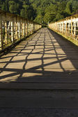 Footbridge once a railway bridge, the Wire Bridge at Tintern. — Stock Photo