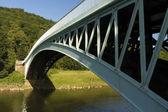 Bigsweir Bridge, a single span iron bridge over the River Wye an — Fotografia Stock