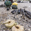 Stock Photo: Fishing nets and associated paraphernalia