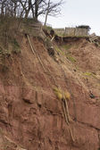 Cliff fall aftermath, Sidmouth — Stock Photo