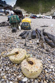 Fishing nets and associated paraphernalia — Stock Photo