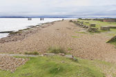 Lepe Beach,WWII launch point for Mulberry Harbours and departur — Stock Photo