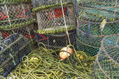 Lobster pots and associated equipment — Foto Stock