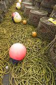 Lobster pots and associated equipment — ストック写真