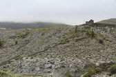 Slate Spoil Heaps on a Murky Day, North Wales — Stock Photo