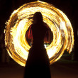 Man Performing Fire Dance — Stock Photo