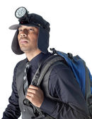 Corporate Officer Gearing up for vacation — Stock Photo