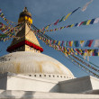 Boudhanath Stupa and Prayer Flags — Stock Photo