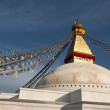 Boudhanath Stupa in Partly Cloudy Day — Stock Photo