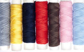Colorful Sewing Thread Rolls — Stock Photo
