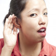 Can I hear you — Stock Photo