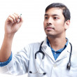 Medical Doctor with Pen in Hand — Stock Photo