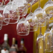 Stock Photo: Hanged Glasses in Bar