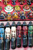 Painted Wooden Masks — Stock Photo