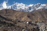 Mountain range in Muktinath — Stock Photo