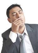 Yawning Due to Tiredness — Stock Photo