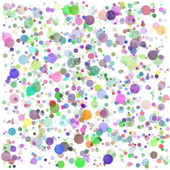 Colorful Round Blots Background — Stock Vector