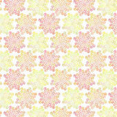 Colorful circular floral pattern on white background — ストックベクタ