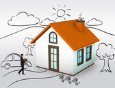 Buying first house, dream home — Foto de Stock