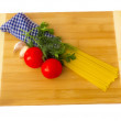 Pasta ingredients set — Stock Photo