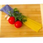 Pasta ingredients set — Stock Photo