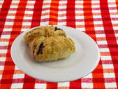 Burekas - a puff pastry pie with stuffing coated with sesame see — Stock Photo
