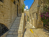 Street in the ancient part of Jaffa — Stock Photo
