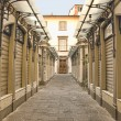 Stock Photo: Shopping arcade early morning in Lucca, Tuscany