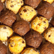 Close-up Chocolate Chip Muffins in Alternating Rows — Stock Photo #42381019