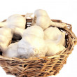 Stock Photo: Woven Cane Basket with Pearl White Garlics