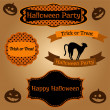 Vector set of Halloween frames and decorative elements — Stock Vector