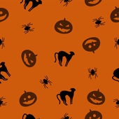 Vector seamless Halloween pattern — Stock Vector