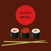 Vector illustration of sushi bar menu template — Stock Vector
