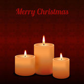 Vector Christmas greeting card with candles — ストックベクタ