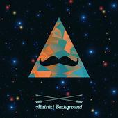 Vektor abstrakt hipster bakgrund med triangeln och mustascher — Stockvektor