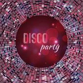 Vector abstract disco background — Stock Vector