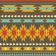 Vector seamless decorative ethnic pattern — Stock Vector
