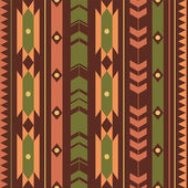 Vector seamless colorful decorative ethnic pattern — Stock Vector
