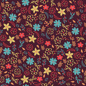 Vector seamless floral pattern. Can be used for invitation cards — Stock Vector